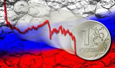Рубль завершил основную валютную сессию обвалом